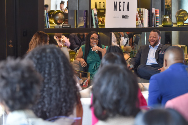 (L-R) Panelists Brittany Packnett, Beverly Bond, and Michael Smith BET META EVENT